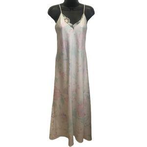 Vintage Papillon-Blanc Floral Lace Slip & Robe Set